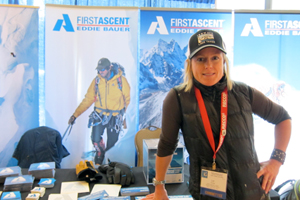 Squaw's assistant avalanche forecaster Lel Tone at this year's International Snow Science Workshop.