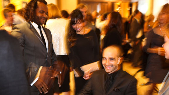 Jesse Billauer and Sal Masekela all smiles at LRO's 7th annual Night By The Sea.