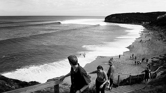 Site of Bodhi's immortal taming of the 50-year-storm, Bell Beach, Australia, was also one of the world's first protected surfing habitats.