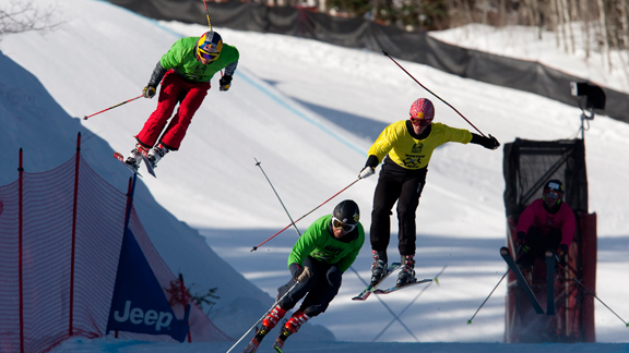 The men's Skier X course at Buttermilk at Winter X Games 14.