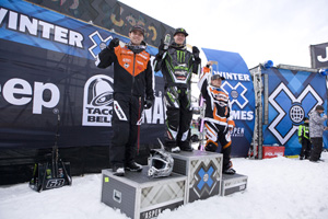 Ross Martin won a silver medal in snowmobile snocross at WX14, and is hoping to improve this year.