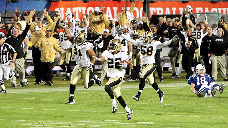Super Bowl XLIV, Tracy Porter