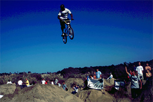 Shaun Butler at Sheep Hills in the late '90s.