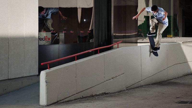 Danny Fuenzalida, frontside boardslide pop over