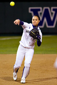 Jenn Salling is one of the Huskies' veterans who have made an impact at the plate.