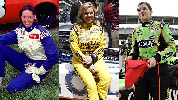 Janet Guthrie, left, was the first, Sarah Fisher, center, was the youngest and Danica Patrick, right, was the most successful in the history of the Indianapolis 500.