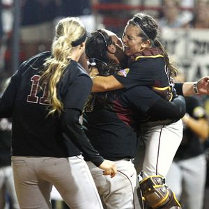 Arizona State swept its way to a second NCAA softball title and won the Pac-10's sixth straight national championship.