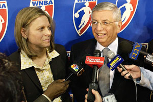 Val Ackerman has called NBA commish David Stern one of the most important figures in the history of women's sports.