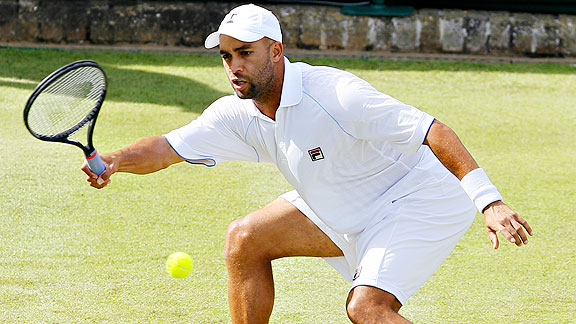 James Blake is one tennis player who enjoys calling village of Wimbledon home during the tournament.