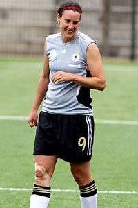 Birgit Prinz may not be in such a good mood after Germany faces a tough Canadian side on Sunday.
