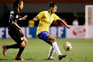 Marta is ably abetted by the physical threat of strike partner Cristiane.