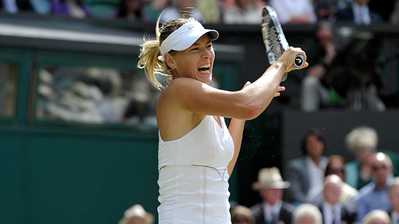 iYou/i try hitting the ball as hard as Maria Sharapova without making noise.
