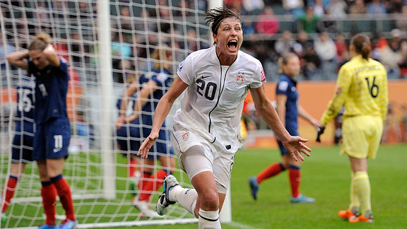 Abby Wambach's header against France on Wednesday gave the U.S. the lead, and the win.