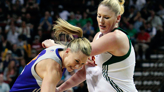 The Storm have faced adversity with star center Lauren Jackson, right, out for 20 games, but they can still finish second in the West.