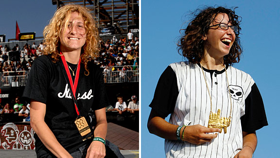 Between the two of them, Elissa Steamer, left, and Marisa Dal Santo hold 11 X Games medals. Who'll come out on top this weekend?