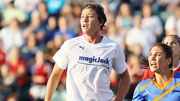Abby Wambach says the outlook on the NWSL needs to be realistic, but optimistic.