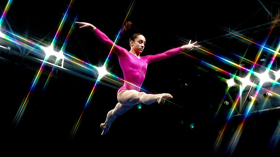 Despite the pressures of competing in her first senior nationals, Jordyn Wieber, who just turned 16, displays determination and poise.