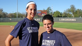 Cat Osterman and Lindsay Gardner led Texas to a Women's College World Series appearance before teaming up as assistant and head coach, respectively, at Division II's St. Edward's University.