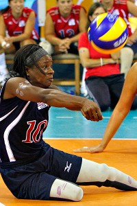 Kari Miller is considered one of the best sitting volleyball defenders in the world.