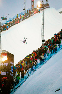 The SPT-designed pipe at Winter X Games Europe.