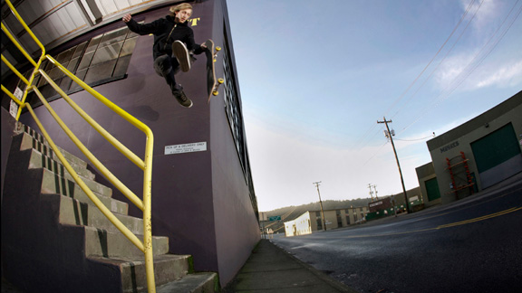 Matt Hanson took this airwalk over a hefty drop and made the grade with style.