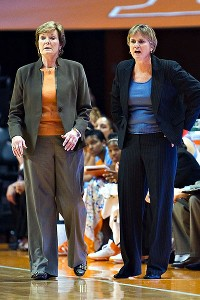 Holly Warlick, right, will take over as head coach for Tennessee, while Pat Summitt will become a head coach emeritus.