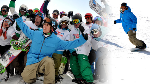 Kevin Pearce was back on a snowboard Tuesday for the first time since Dec. 31, 2009.