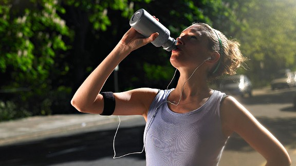Sipping a sports drink containing protein is necessary if you plan to run for more than one hour.