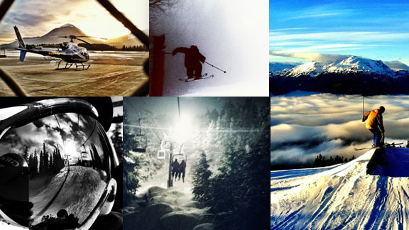 Photos taken with phones. By athletes. On the go.