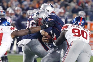 The Giants believe they can rattle Tom Brady even when they don't get sacks.