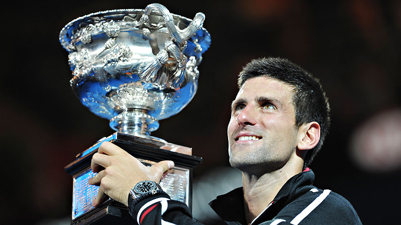 Djokovic with Trophy