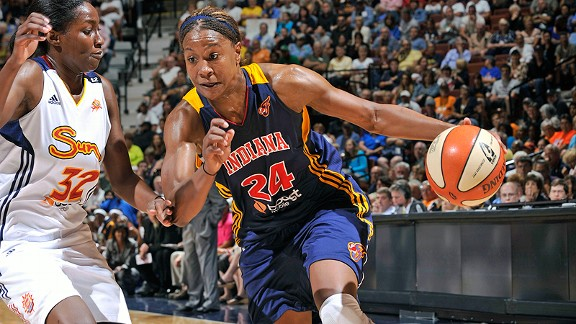 The Fever's Tamika Catchings has played overseas in eight of her 10 WNBA seasons, though she wishes she didn't have to.