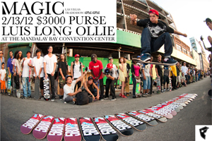 The Maloof long ollie challenge comes to the Las Vegas tradeshow from 4 to 6 p.m. Feb. 13.