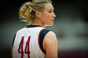 Joslyn Tinkle did not get in the game when Stanford played in the national semifinals last year, and that only made her work harder.
