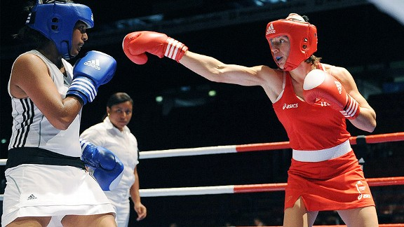 Some women boxers prefer skirts, others deplore them. The AIBA will not make skirts compulsory.