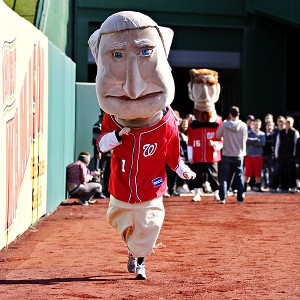 Our scribe, Amanda Rykoff, took on the role of George Washington in her recent audition at Nationals Park.