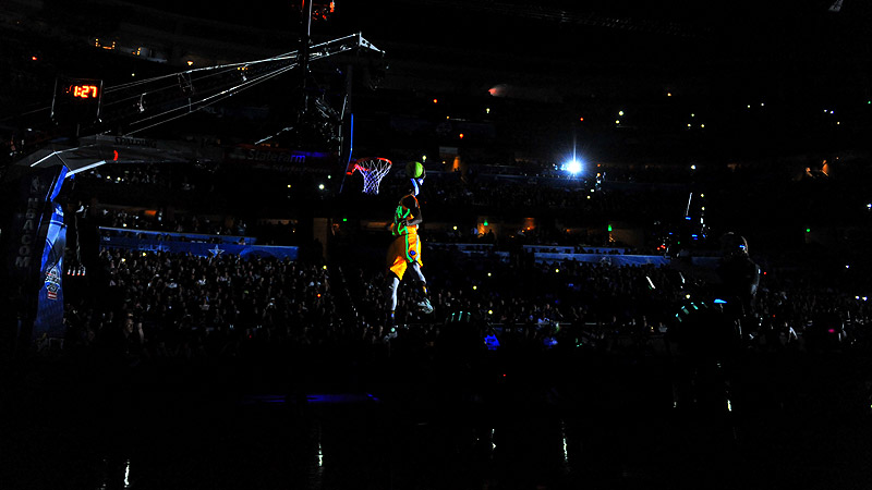 Paul George during Slam Dunk Contest