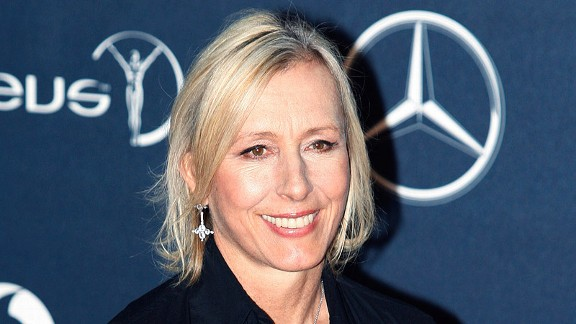 Tennis legend Martina Navratilova is a leading champion for gay rights.