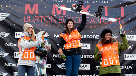 BEO women's podium