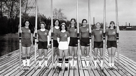 The Yale women's rowing team made a very loud statement about Title IX in 1976.