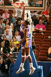 Lisa Leslie threw down the first dunk in WNBA history in 2002.
