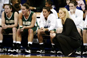 Jamie Craighead (kneeling) leads the Sacramento State program, but her own mentor, Jody Runge, can't find her way back to a bench.