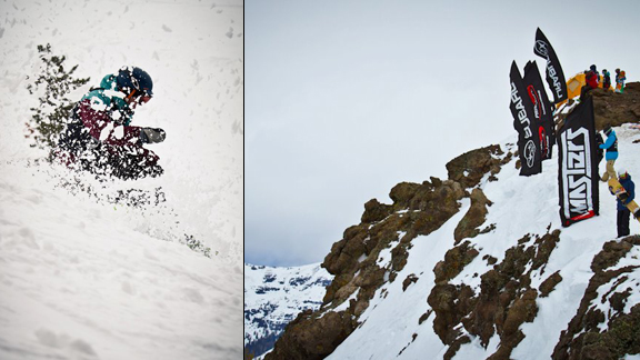 Look's like a storm is brewing for the final day of the North Face Masters, Kirkwood.