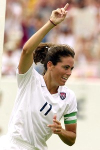 Julie Foudy won two World Cups and two Olympic gold medals during her playing career for Team USA.
