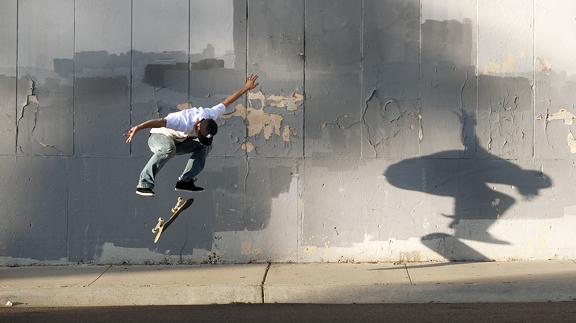 Josh Kalis and shadow, B/S flip. a class=launchGallery href=http://espn.go.com/action/photos/gallery/_/id/7825600/skate-portfolio-mike-blabaciLaunch Gallery »/i/a