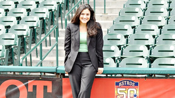 Stephanie Wilka held a couple of MLB jobs before landing with the Astros; she works in baseball operations, fulfilling a lifelong dream.
