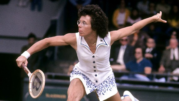 Billie Jean King has been a champion of Title IX. You also can expect to see her among our Top 40 female athletes.
