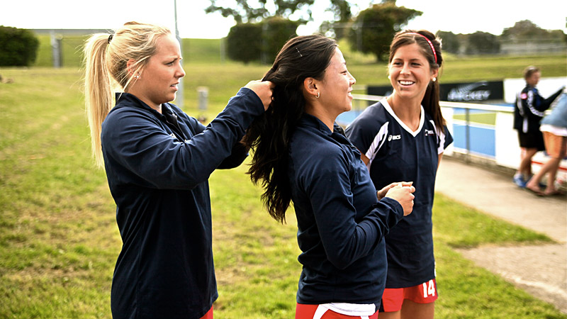 USA Field Hockey team in Australia