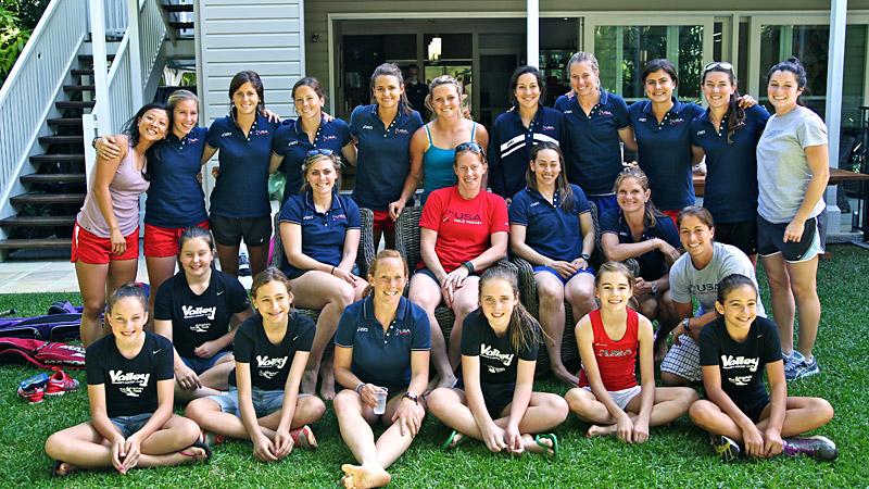 USA Field Hockey team in Australia