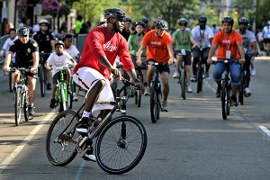 LeBron James on bike riding: I've been riding bikes my whole life. ... It's something I always did as a kid.